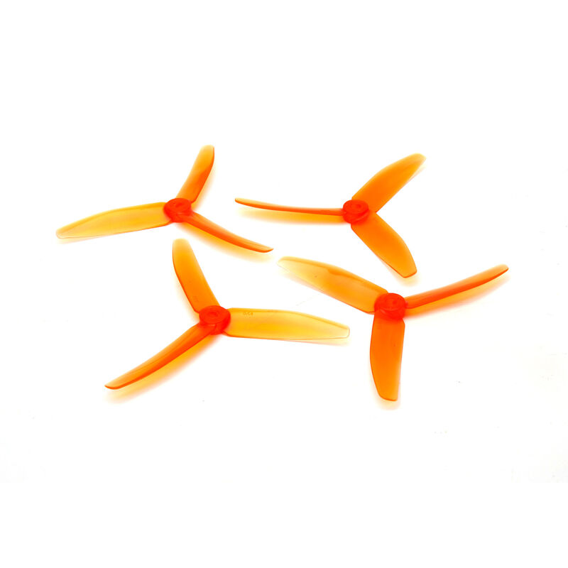 DYS 5x4 Tri-Prop Transparent: Orange