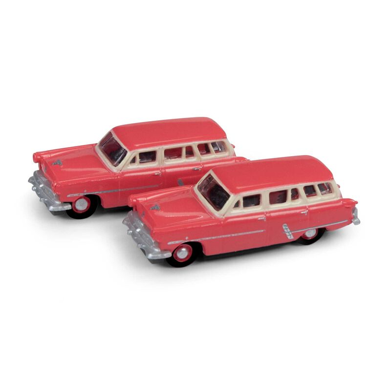 N 1953 Ford Station Wagon, Flamingo Red(2)