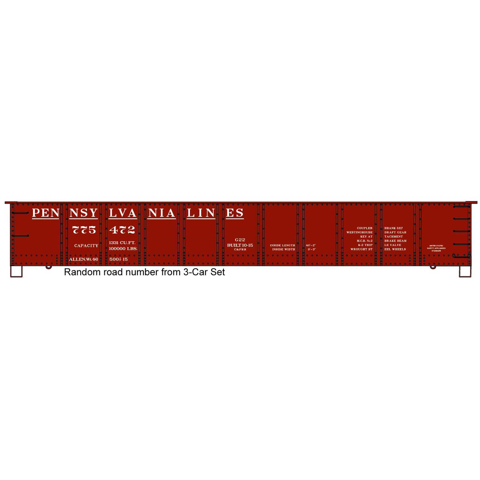 HO 41' Steel Gondola Single Car PA Lines