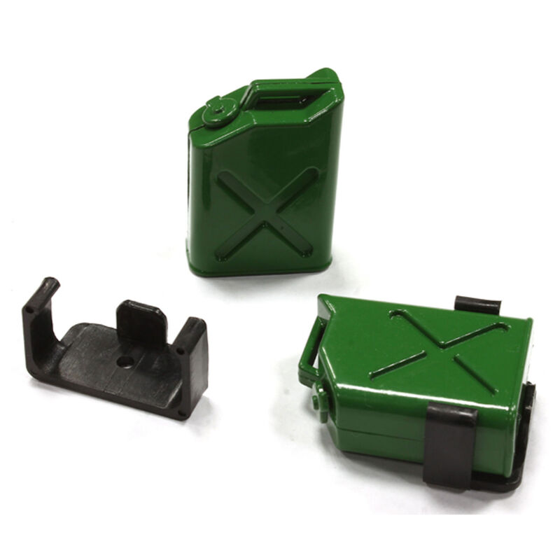 Jerry Can Fuel Tank (2), Green: 1/10 Scale Crawler