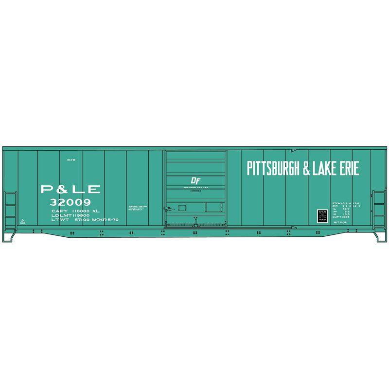 HO 50' Welded-Side Steel Boxcar, P&LE