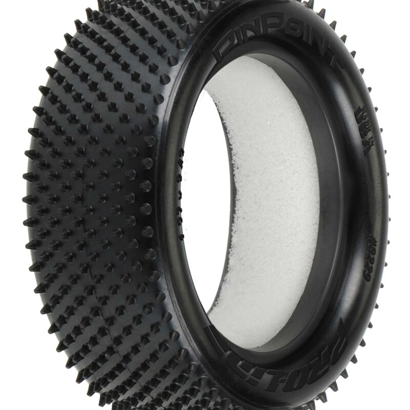 1/10 Front Pin Point 2.2 4WD Z4 Off-Road Carpet Tires (2): Buggy