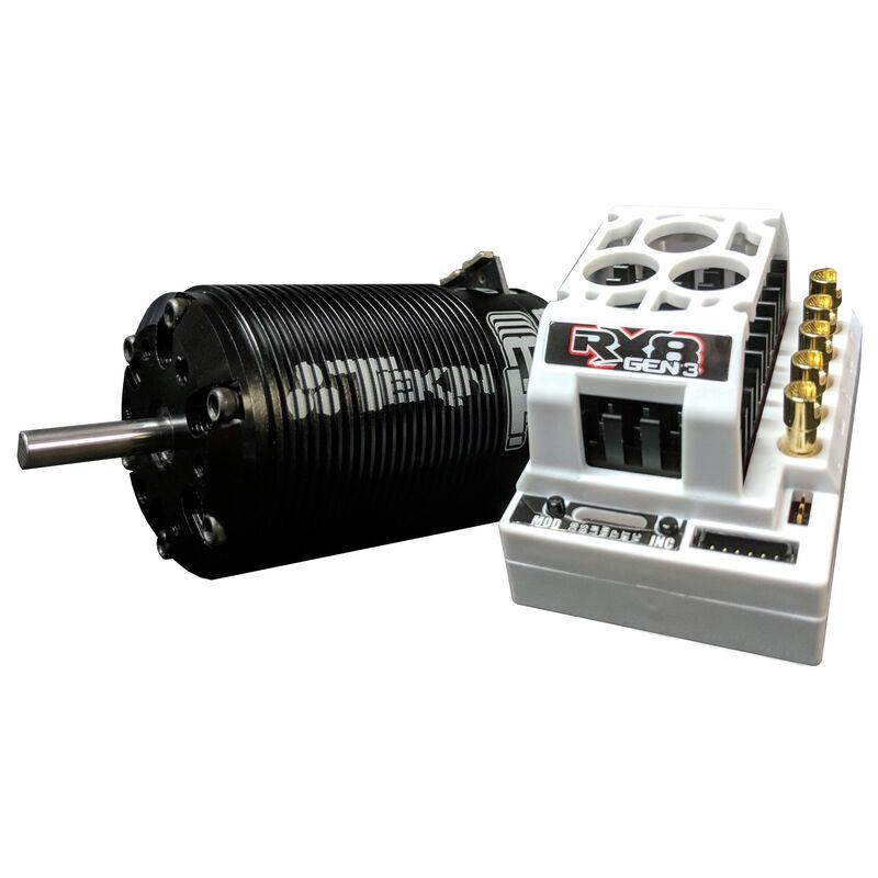 1/8 RX8 Gen3 ESC/T8 Gen3 Brushless Motor Combo, 2050kv