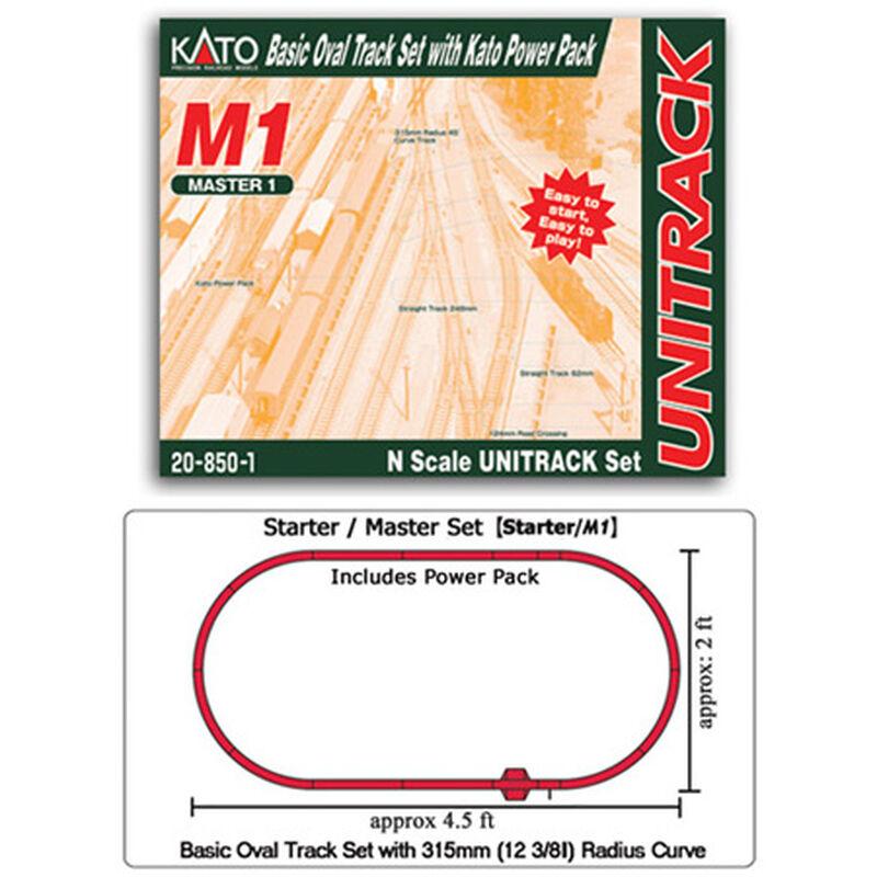 N M1 Basic Oval Track Set w/Power Pack