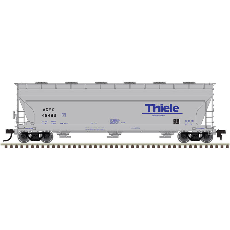 HO 4650 Covered Hopper Thiele Kaolin #46486