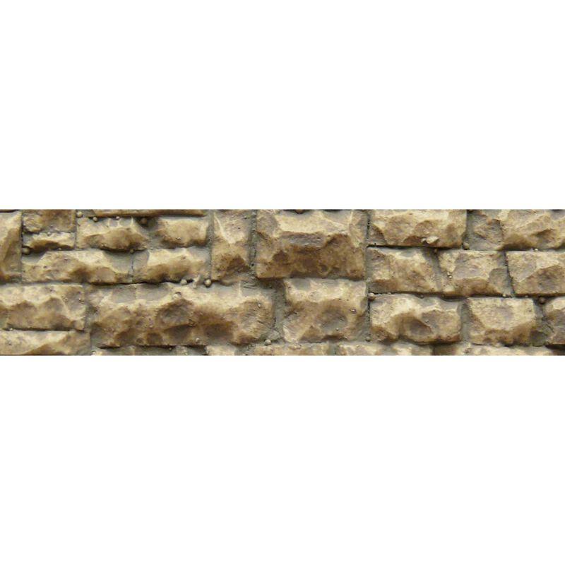 "HO/O Flexible Medium Random Stone Wall, 3.25""x14"""