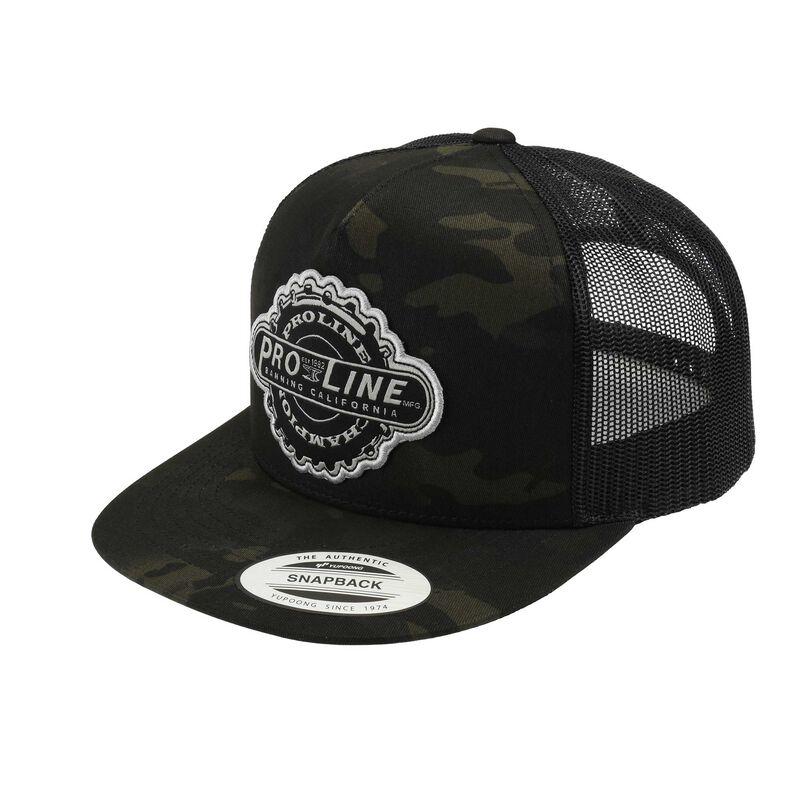 Pro-Line Manufactured Dark Camo Trucker Snapback Hat (One Size)
