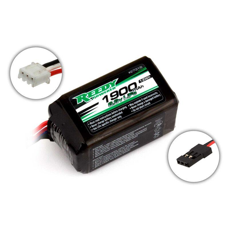 6.6V 1900mAH 2S Reedy LiFe Receiver Battery: Universal Receiver