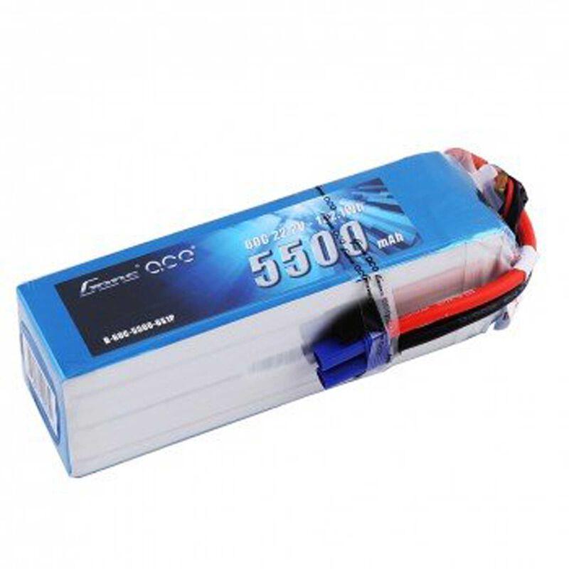 22.2V 5500 Capacity 6S Voltage 60C LiPo, EC5