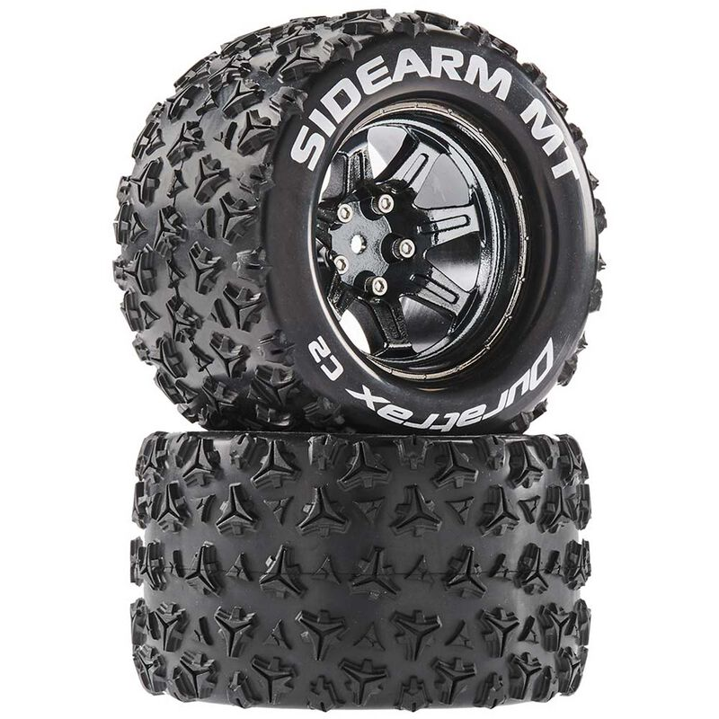 Sidearm MT 2.8 Mounted Tires, Chrome 14mm Hex(2)