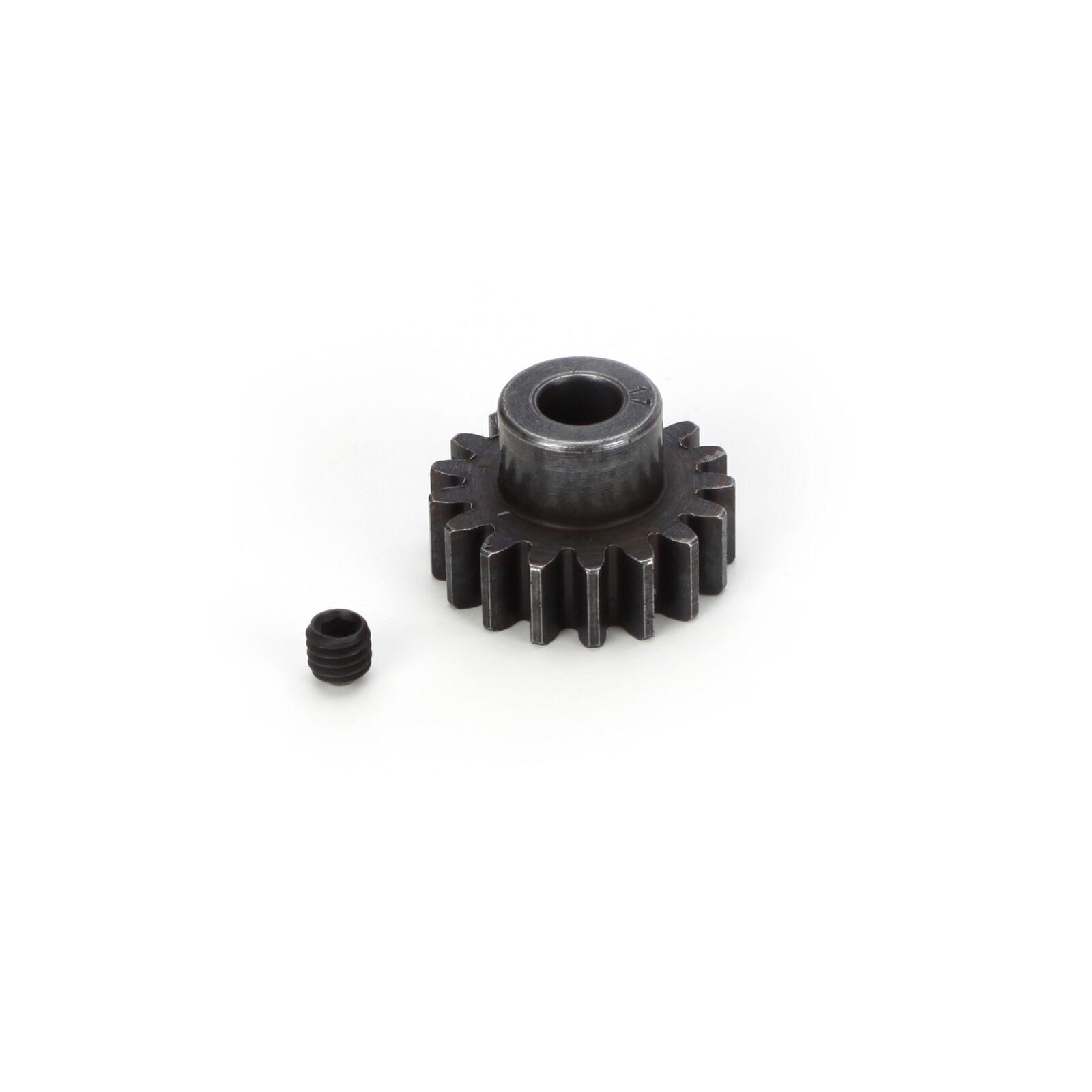 Extra Hard Steel 5mm Bore 1 Module Pinion, 17T