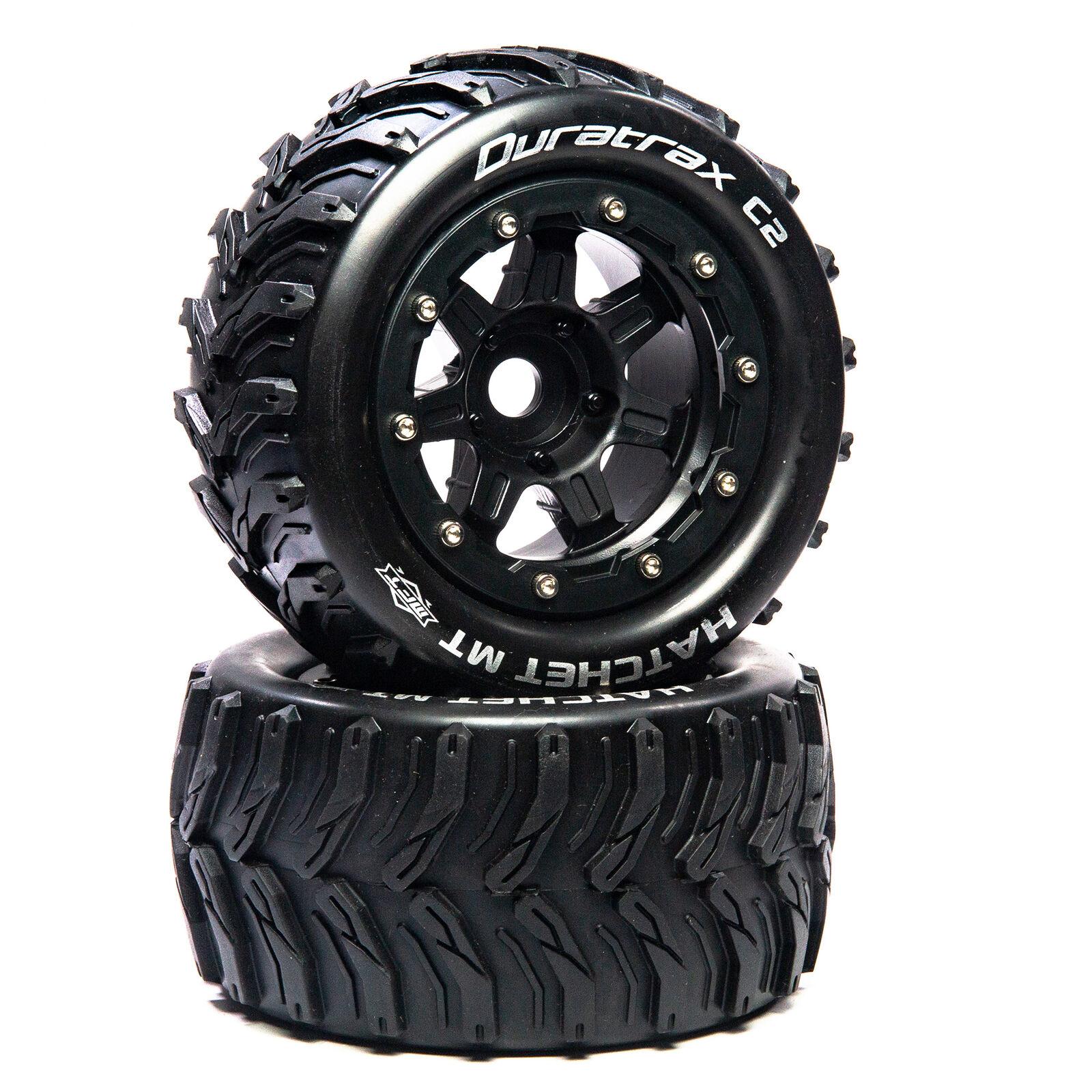 """Hatchet MT Belt 2.8"""" Mounted Front/Rear Tires .5 Offset 17mm, Black (2)"""