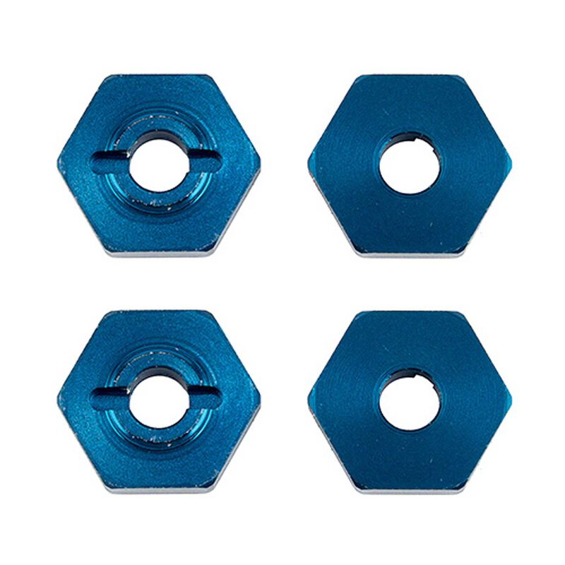 1/14 Wheel Hexes blue aluminum