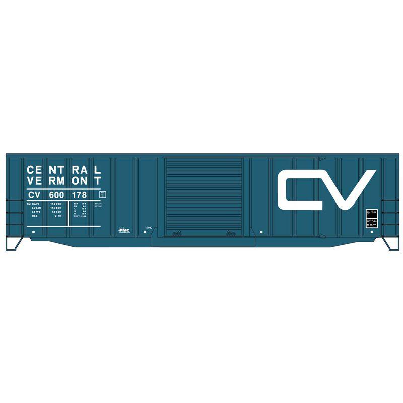 HO KIT 50' Exterior Post Steel Box CV