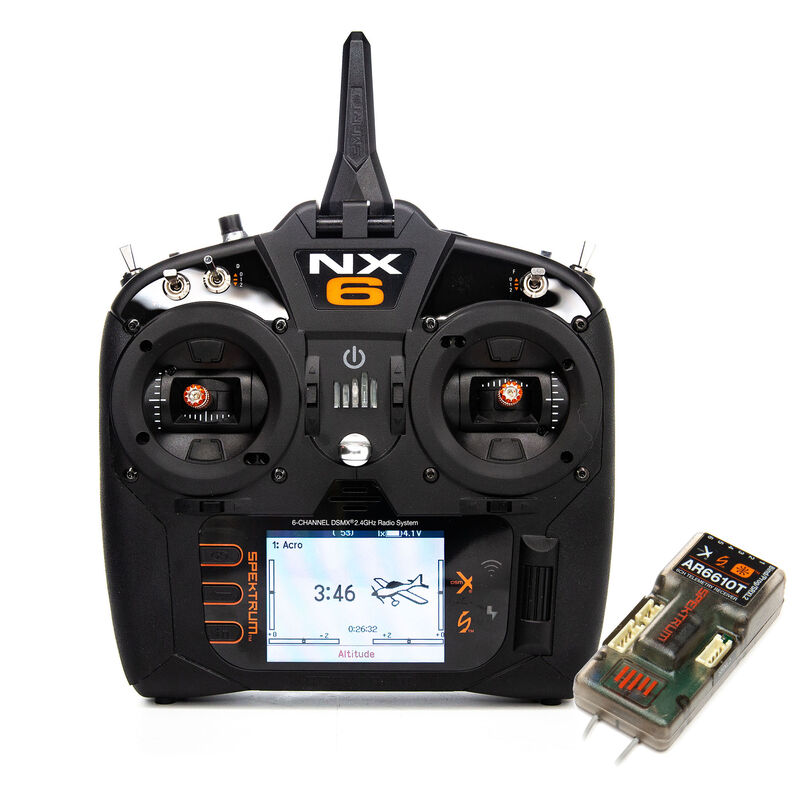 NX6 6-Channel DSMX Transmitter with AR6610T Telemetry Receiver