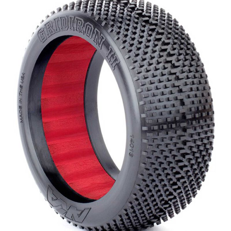 1/8 Gridiron II Super Soft Front/Rear Tire with Red Insert: Buggy (2)