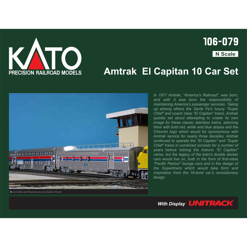 N Passenger Car Set, Amtrak/El Capitan (10)