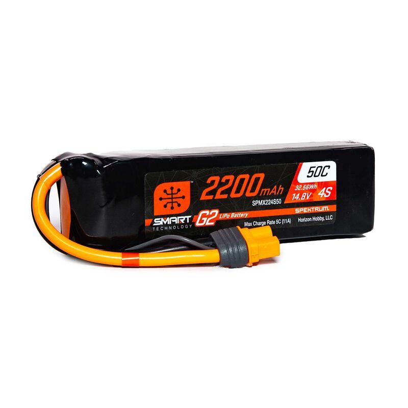 14.8V 2200mAh 4S 50C Smart G2 LiPo Battery: IC3