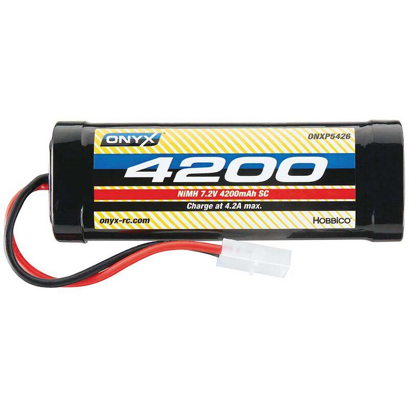 7.2V 4200mAh 6-Cell Sub-C Stick NiMH Battery: Tamiya Connector
