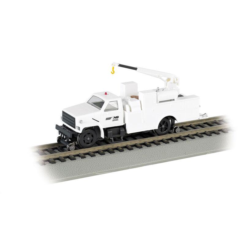 HO Hi-Rail Truck w/DCC & Crane, NS/White