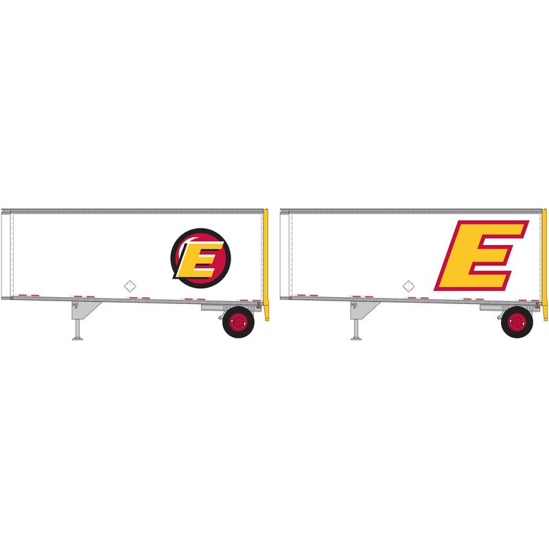 HO RTR 28' Trailers with Dolly Estes (2)
