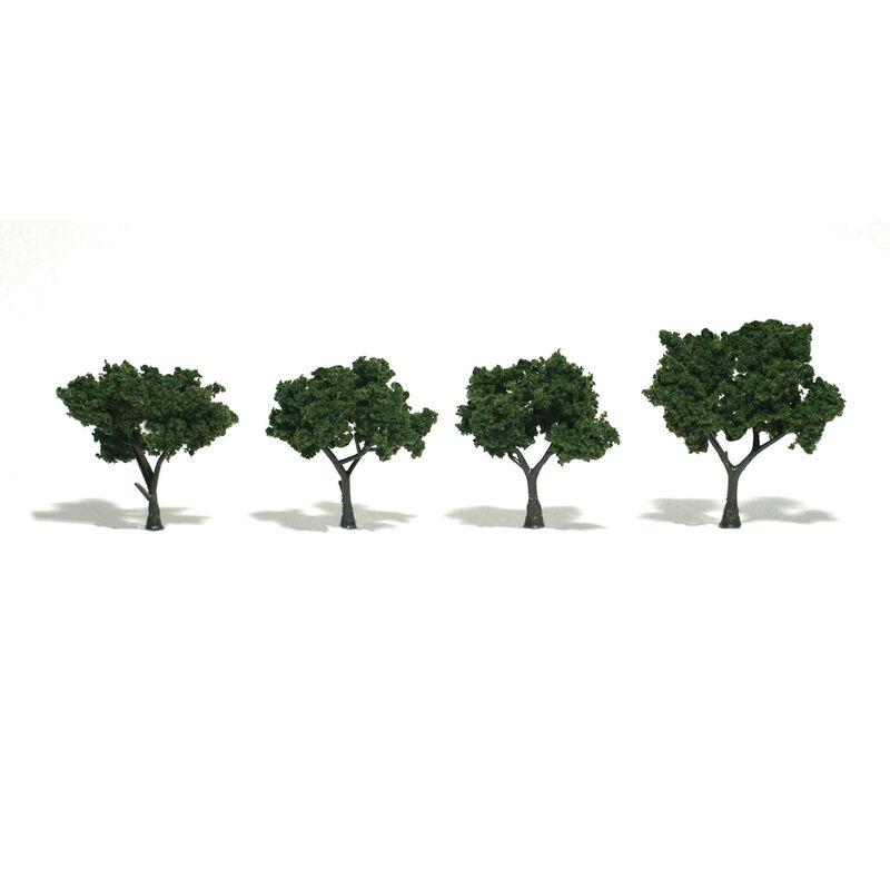 """Ready-Made Tree, Medium Green 2-3"""" (4)"""