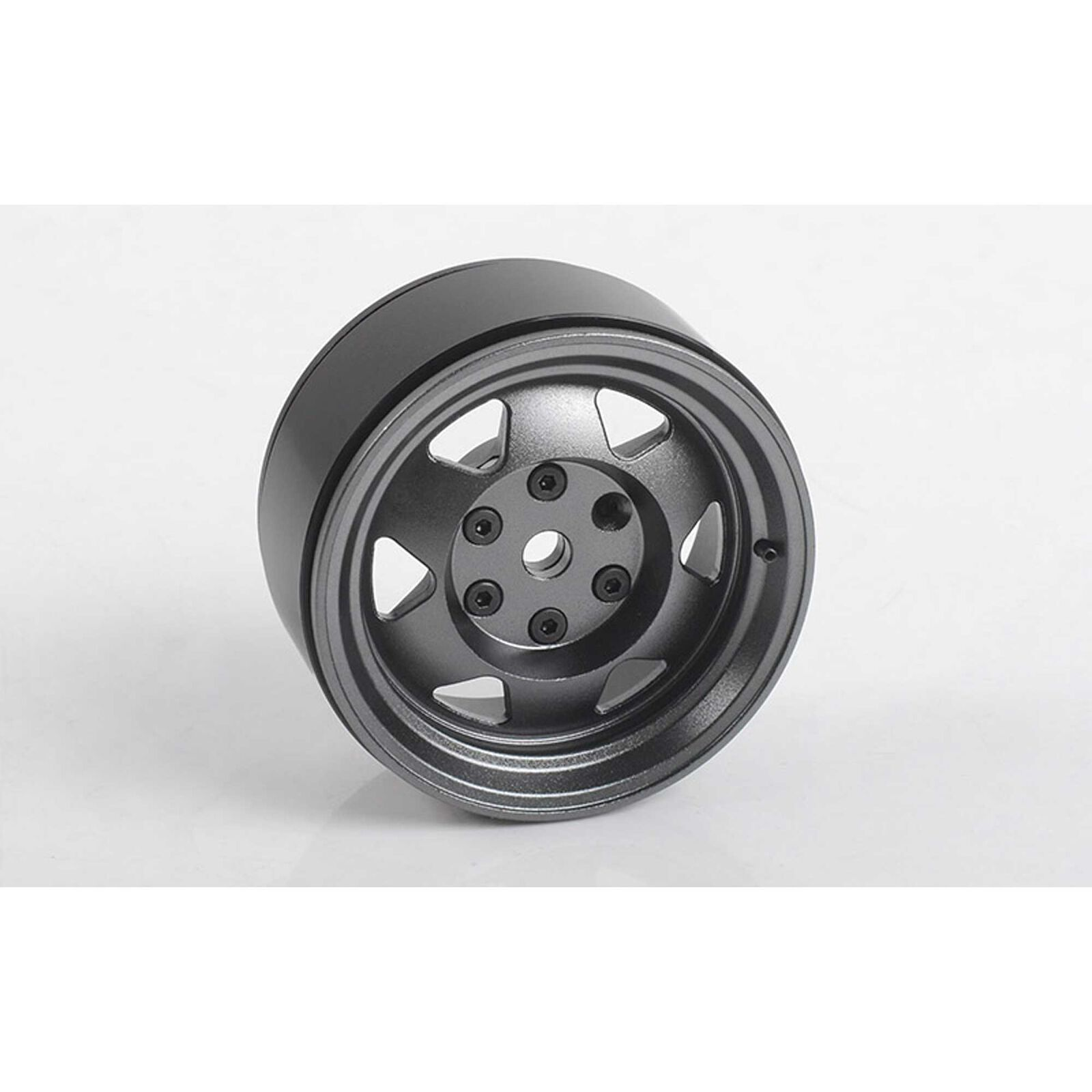 1/10 OEM XJ 1.9 Front/Rear Beadlock Crawler Wheels, 12mm Hex, Gunmetal (4)