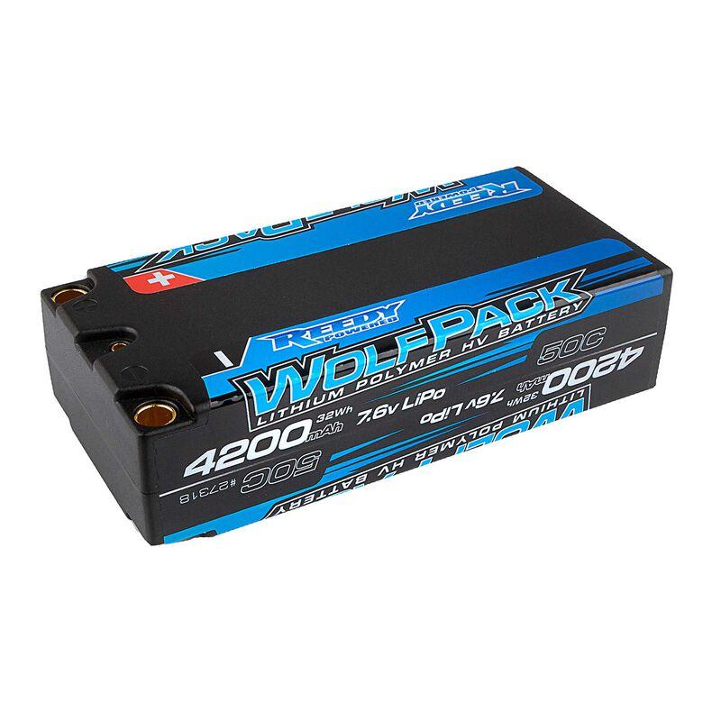 7.6V 4200mAh 2S 50C Wolfpack Shorty HV-LiPo Battery: Tubes, 5mm