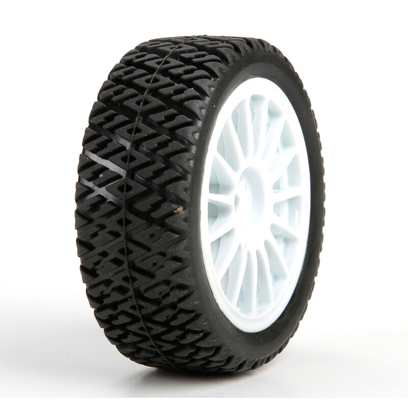 1/14 Gravel Spec Front/Rear 2.0 Pre-Mounted Tires, 12mm Hex (2): Mini Rally