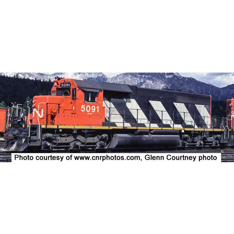 HO SD40 w DCC & Sound CN Sergent Stripe #5091