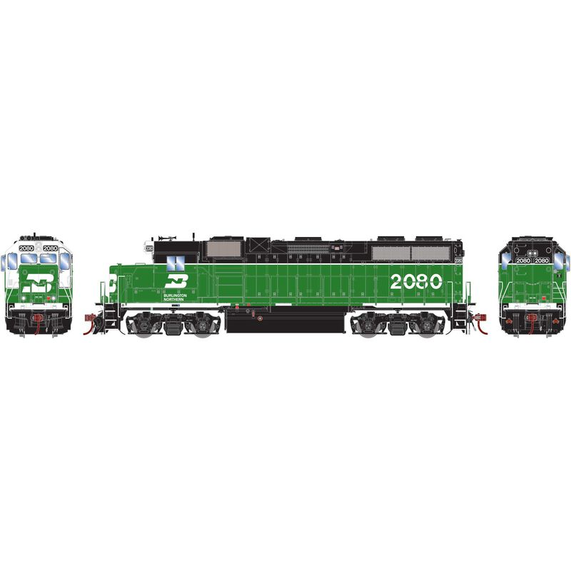 HO GP38-2 with DCC & Sound, BN/White Face #2080