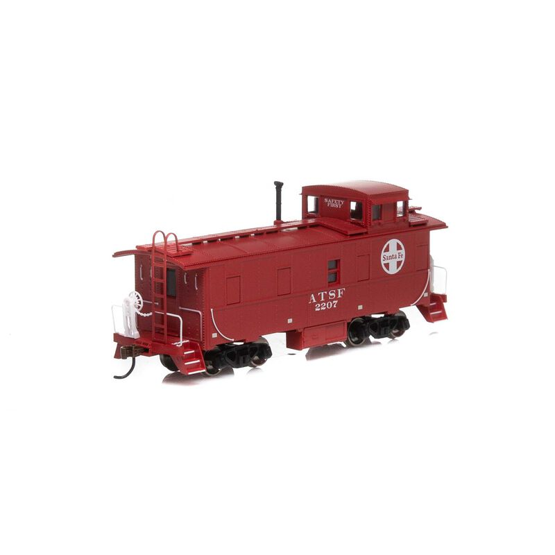 HO Cupola Caboose SF Red #2207