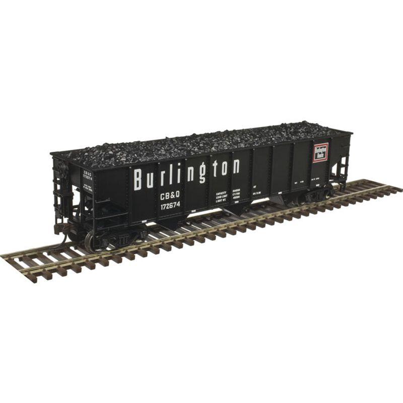HO Trainman 70-Ton 9-Panel Hopper CB&Q #173061