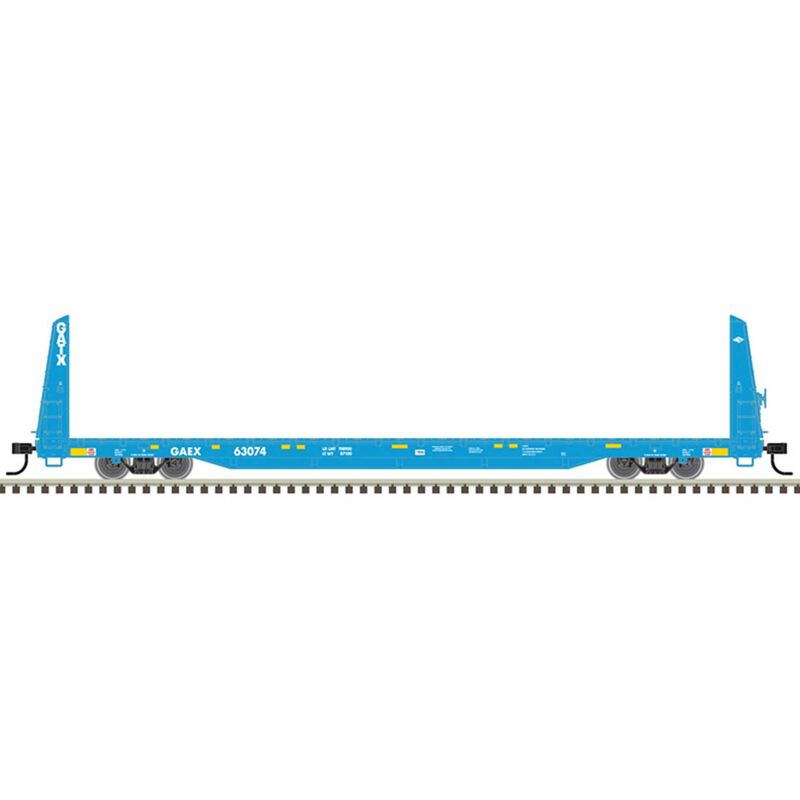 O Flat Car 3 Rail GAEX 63074,63081