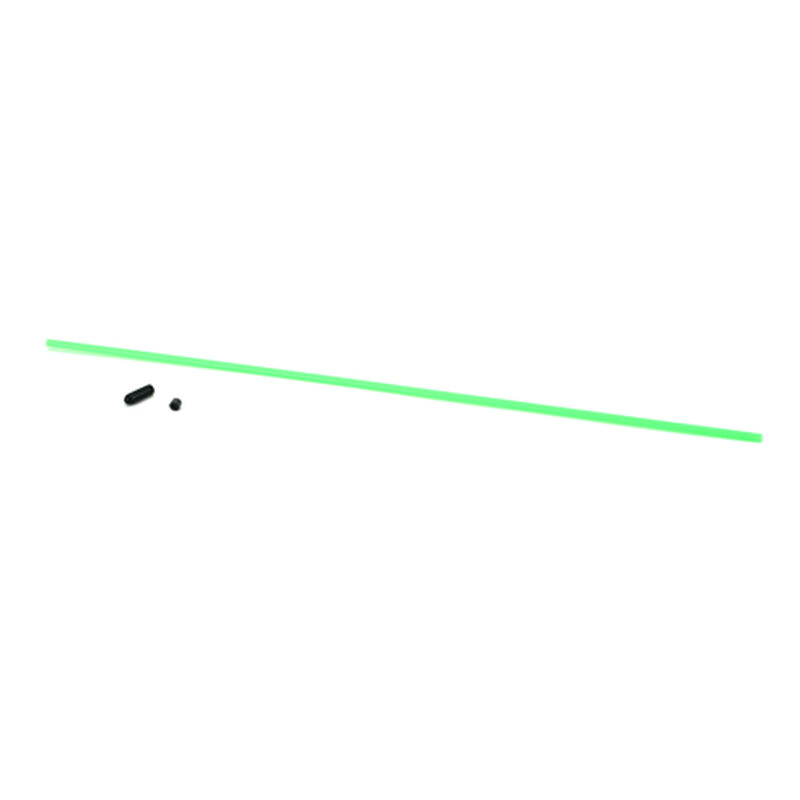 Antenna Tube with Cap, Neon Green