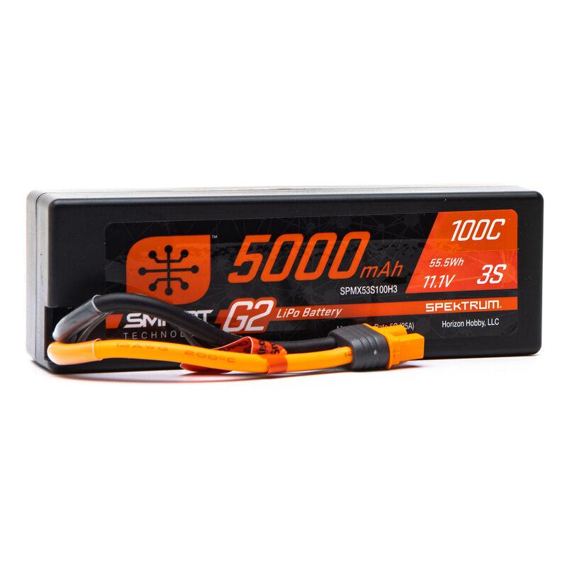 11.1V 5000mAh 3S 100C Smart G2 Hardcase LiPo Battery: IC3