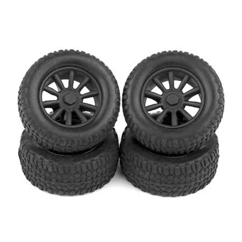 1/28 Front/Rear Pre-Mounted Tires (4): SC28
