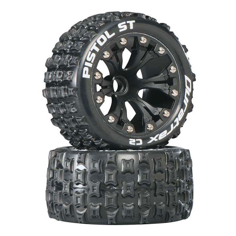 "Pistol ST 2.8"" 2WD Mounted Front C2 Tires, Black (2)"