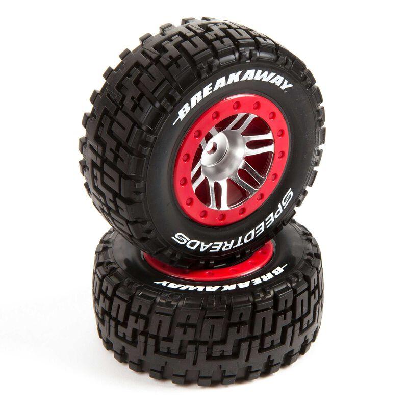 SpeedTreads Breakaway SC Tire Front  Mounted (2): Traxxas Slash/Rustler, ECX 4X4