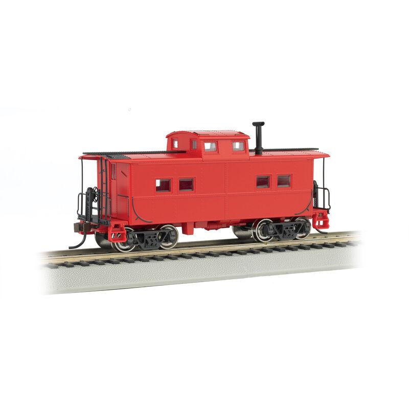HO Northeast Steel Caboose Unlettered Red