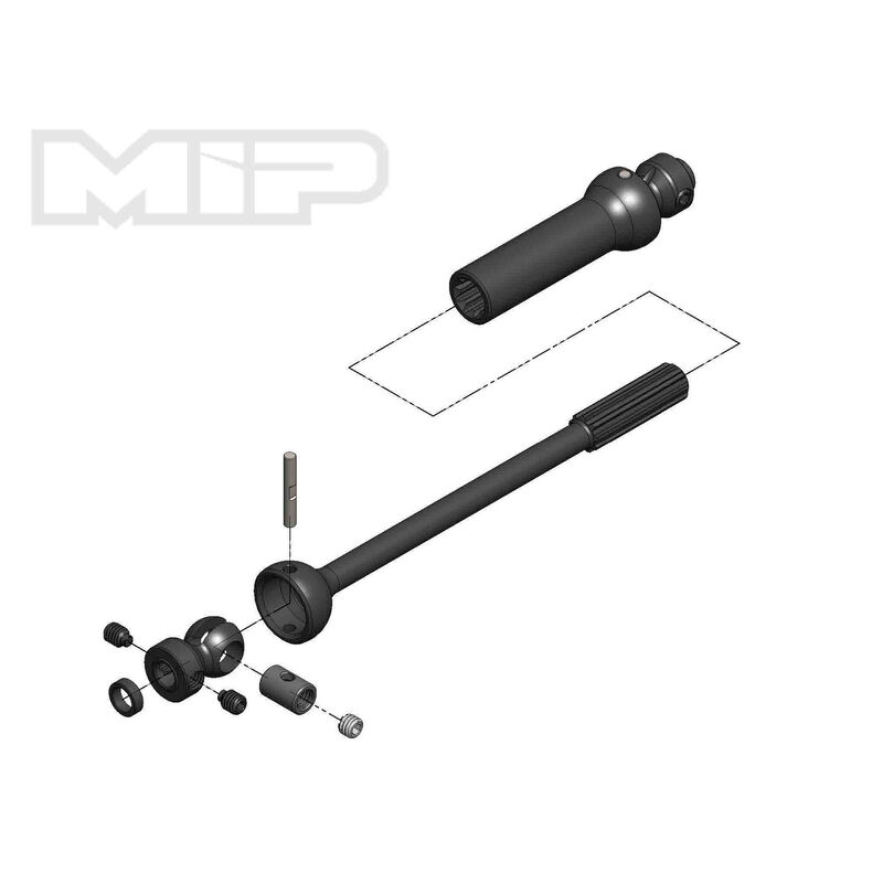 Center Drive Kit Single Shaft 140mm - 165mm with 5mm Hubs