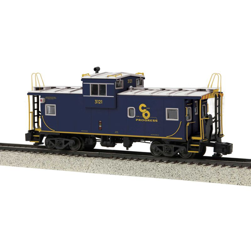 Extended Vision Caboose Hi-Rail Wheels C&O #3121