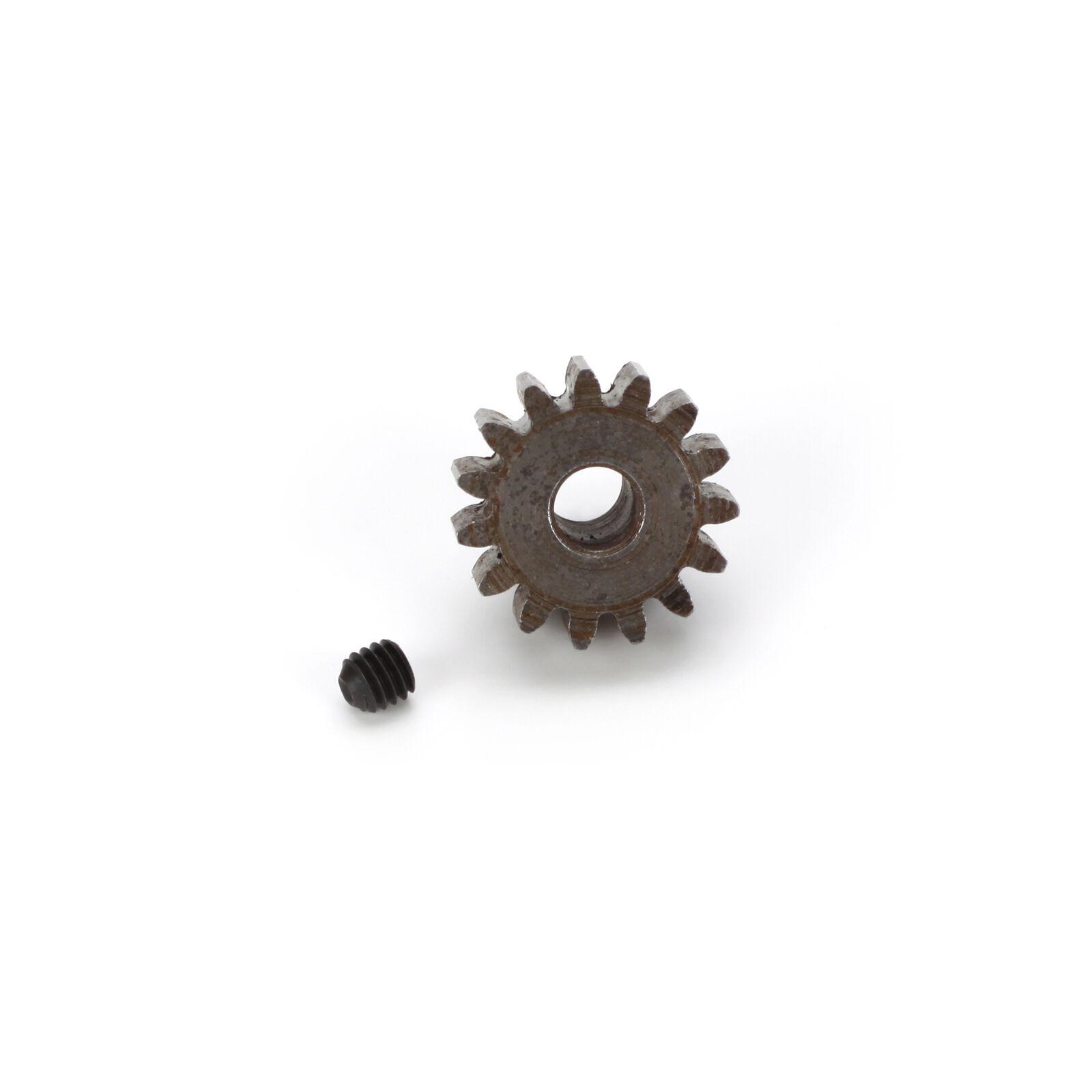 Extra Hard Steel 5mm Bore 1 Module Pinion, 15T