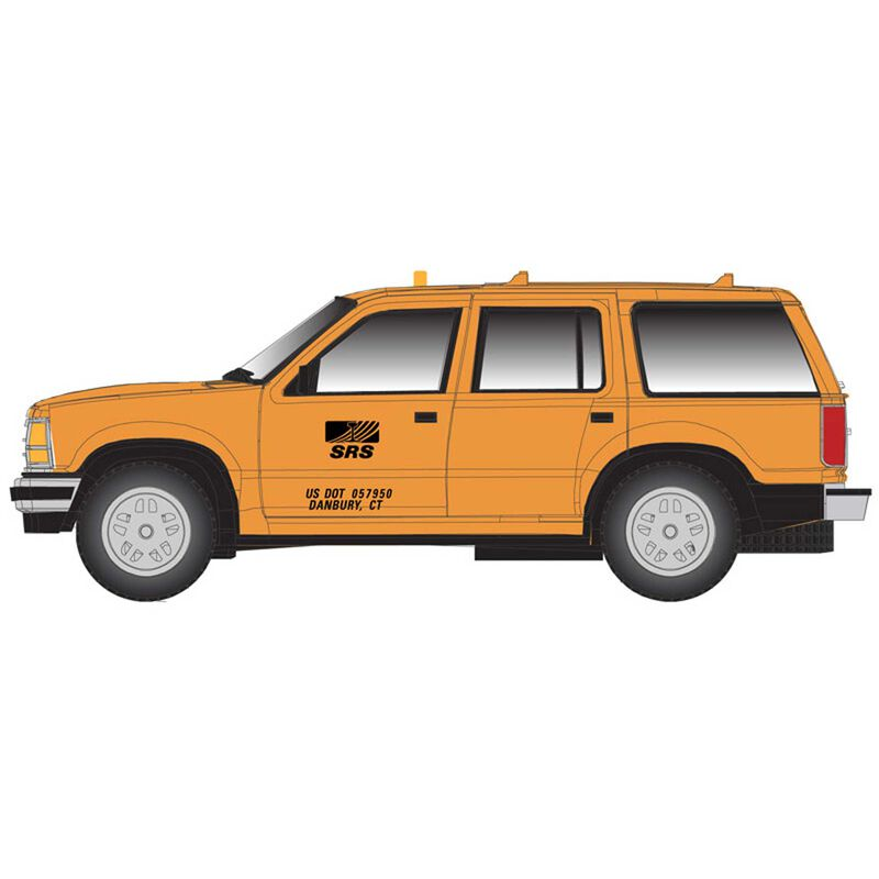 HO Ford Explorer Sperry Rail Service, Yellow