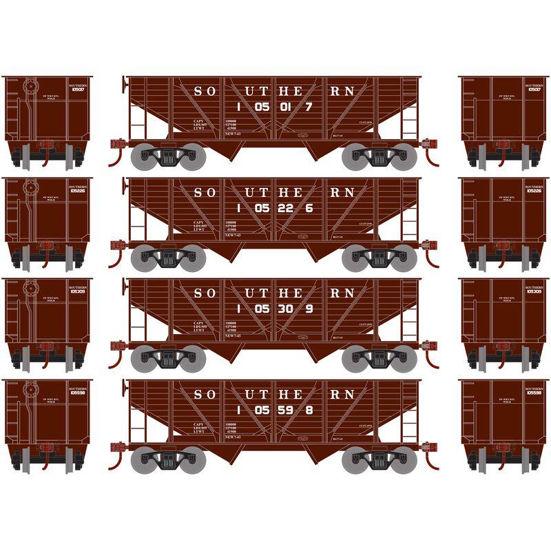 HO 34' 2-Bay Hopper with Coal Load SOU #1 (4)