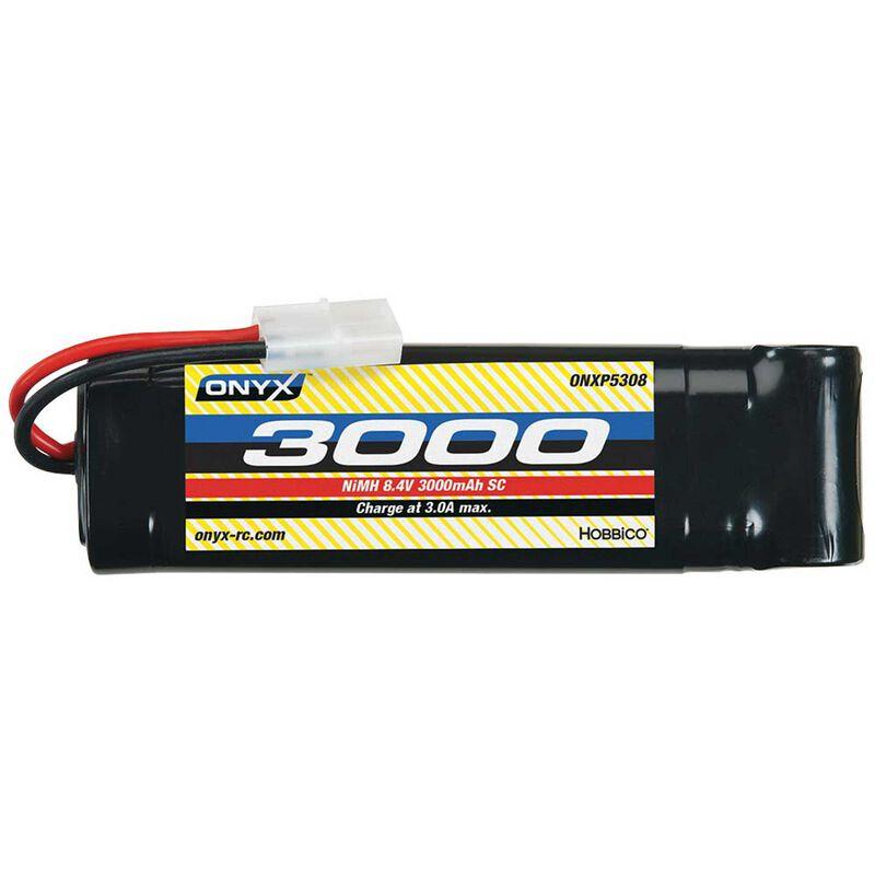 8.4V 3000mAh 7-Cell Sub-C Stick NiMH Battery: Tamiya Connector