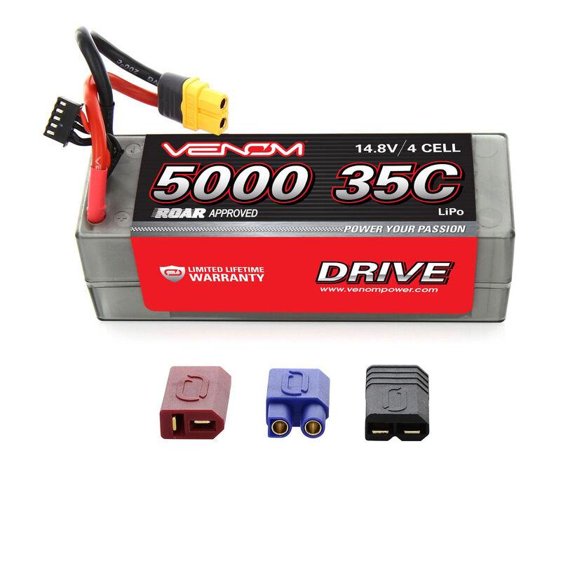 DRIVE 14.8V 5000mAh 35C 4S Hardcase LiPo Battery: UNI 2.0 Plug