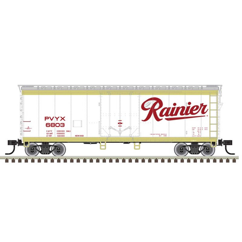 O 40' Box Car 2 Rail Rainier 6803 6819