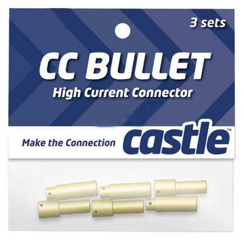 High Current Connector: 4mm Bullet Set (3)