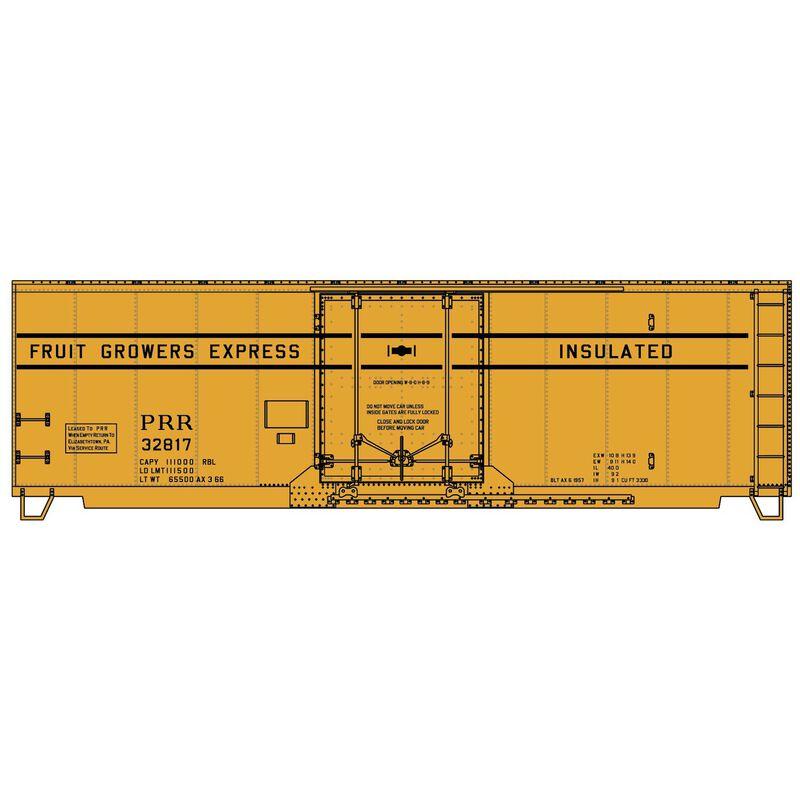 HO KIT 40' ARR Steel Plug Door Box PRR FGE